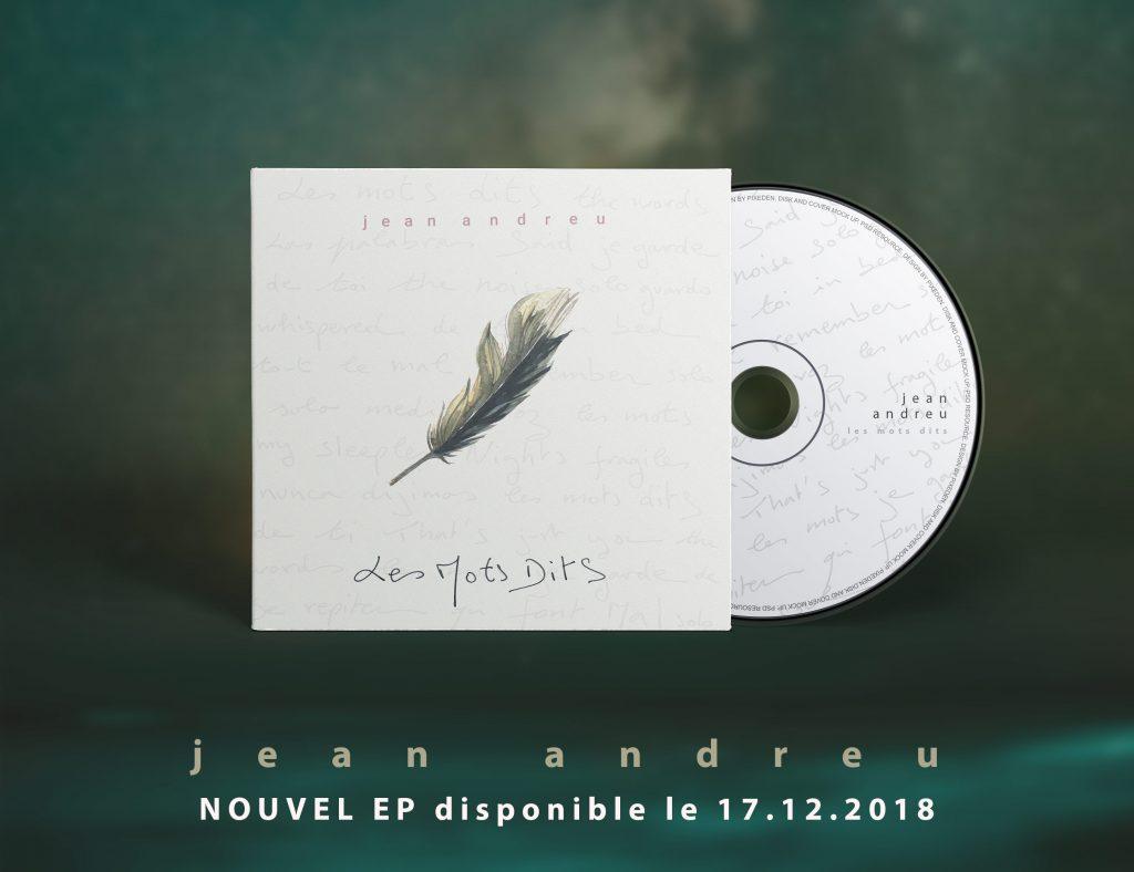 visuel promo EP Les Mots Dits JEan Andreu
