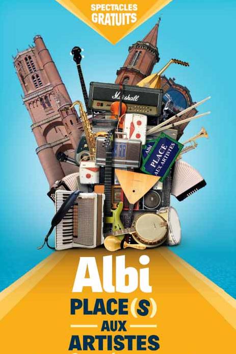 Affiche Festival Albi, place(s) aux artistes 2019